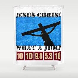 Divine Jump Shower Curtain