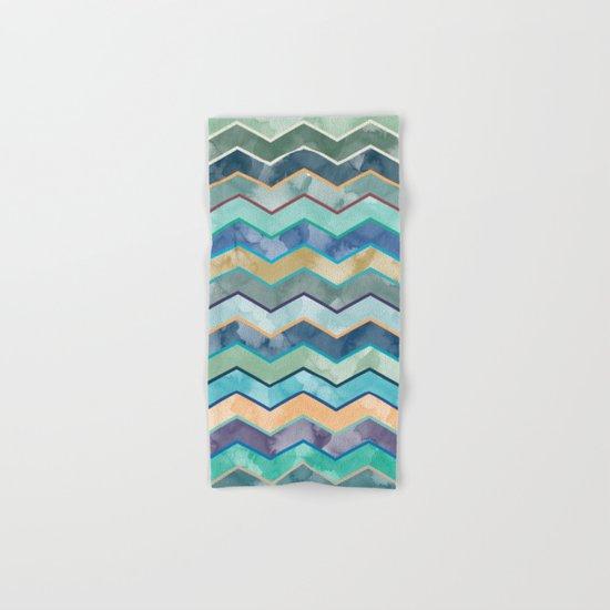 Watercolor Colorful Wave  Hand & Bath Towel