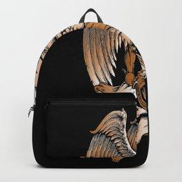 Bronze Figure Art Design Bronze Motif Backpack