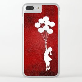 Banksy the balloons Girls silhouette Clear iPhone Case