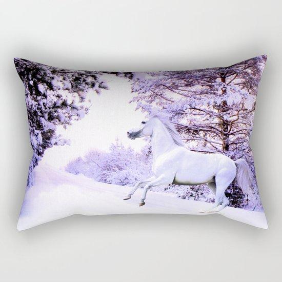 snow beauty Rectangular Pillow