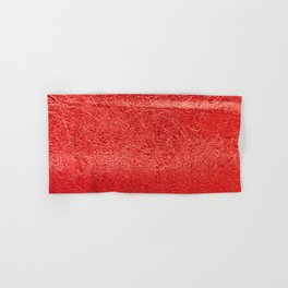 Crinkled Bold Red Foil Texture Christmas/ Holiday Hand & Bath Towel