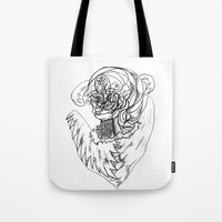 wave Tote Bags featuring Wave. by sonigque