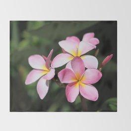 Hawaiian Flower Throw Blanket
