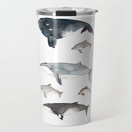 Whales and Dolphins I Travel Mug