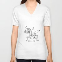 snail V-neck T-shirts featuring Snail. by sonigque