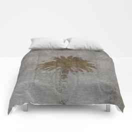 Rainy Day Palm Tree Comforters