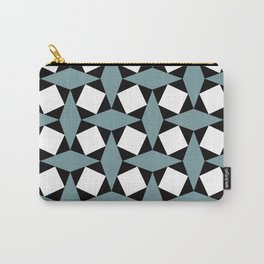 Geometric Pattern #188 (gray squares) Carry-All Pouch