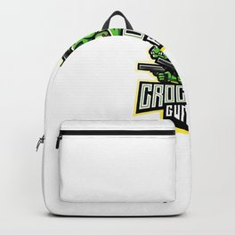 Crocodile Gunners Esport Mascot Logo Backpack