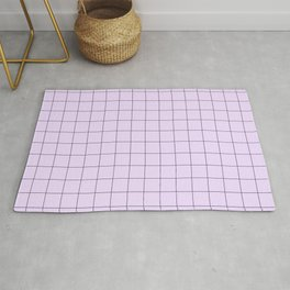 Lilac Grid Pattern Rug
