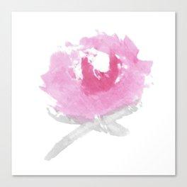 Pink Peony Watercolor Print Canvas Print