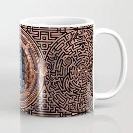 Aztec Tardis Doctor Who Full Color Pencils Sketch Coffee Mug