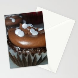 Chocolate Oreo crunch cupcakes Stationery Cards