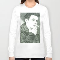 james franco Long Sleeve T-shirts featuring Mr Franco by Troy Salmon Art