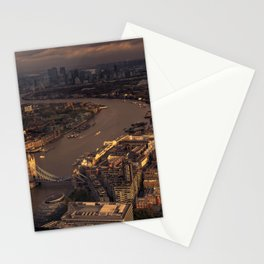 Thames Meander Cityscape Stationery Cards