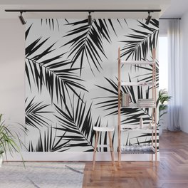 Palm Leaves Cali Finesse #3 #BlackWhite #tropical #decor #art #society6 Wall Mural