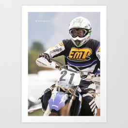 The iron rider Art Print