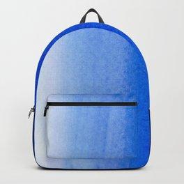 Dip dye background in ultramarine blue Backpack