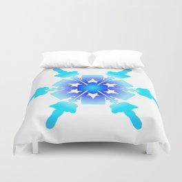 Blue Snowflake Design II Duvet Cover