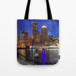 Bright Lights Boston Tote Bag
