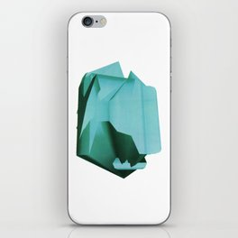 3D turquoise flying object  iPhone Skin