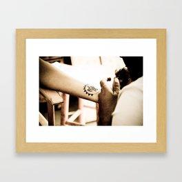 Henna Turtle Framed Art Print