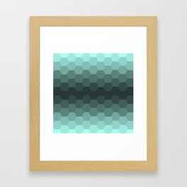 Teal Mint Honeycomb Framed Art Print