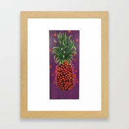 Shimmy Shimmy Pineapple Framed Art Print