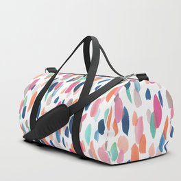 Watercolor Dashes Duffle Bag