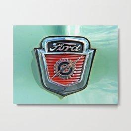 Ford F Series Hood Emblem Metal Print
