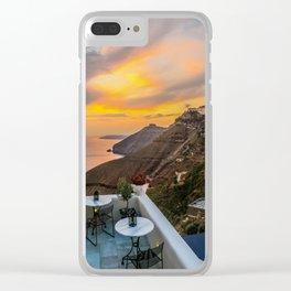 Gorgeous Santorini b Clear iPhone Case