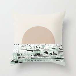 Rooftop view_2 Throw Pillow