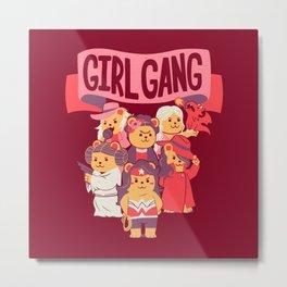 Girl Gang Metal Print