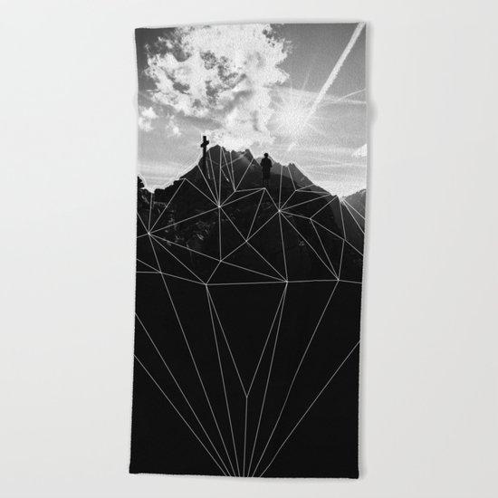 Crystal Mountain II Beach Towel
