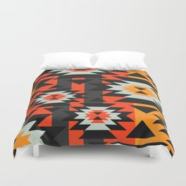 Aztec geometry Duvet Cover