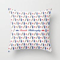 philosophy Throw Pillows featuring PHILOSOPHY by Necdet Sahin
