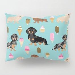 dachshund ice cream multi coat doxie dog breed cute pattern gifts Pillow Sham