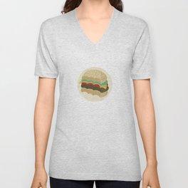 Totally a Burger Unisex V-Neck