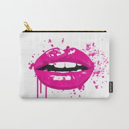 Pink lips fashion illustration Carry-All Pouch