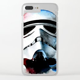 Stormtrooper Watercolor Concept Empire Art Print Vader Clear iPhone Case