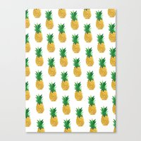 pineapples Canvas Prints featuring Pineapples by millymay2