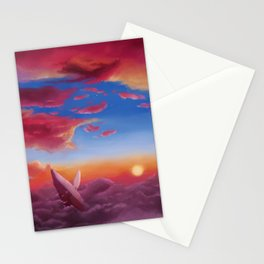 ocean clouds Stationery Cards