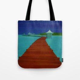 Maldives Travel Poster Tote Bag