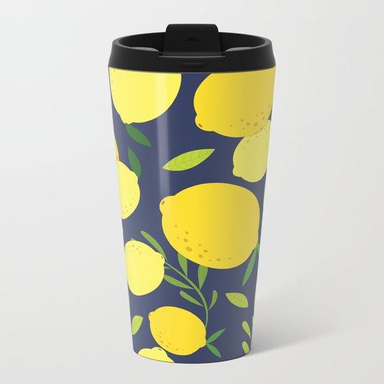 Freshly Picked Lemon Metal Travel Mug