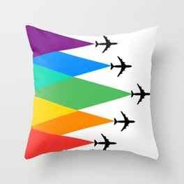Fly the Rainbow  Throw Pillow