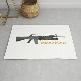 M16A2 M203 Rifle Rug