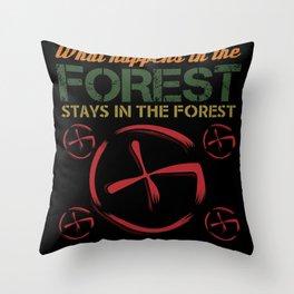 Geocaching Forest Nature Run Find Shirt Design Throw Pillow