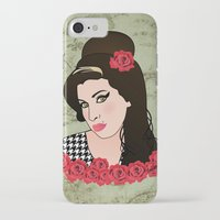 amy hamilton iPhone & iPod Cases featuring Amy  by Pendientera