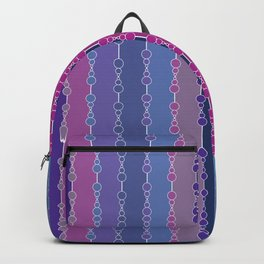 Multi-faceted decorative lines 3 Backpack