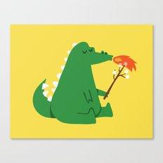 Dragon and Marshmallow Canvas Print